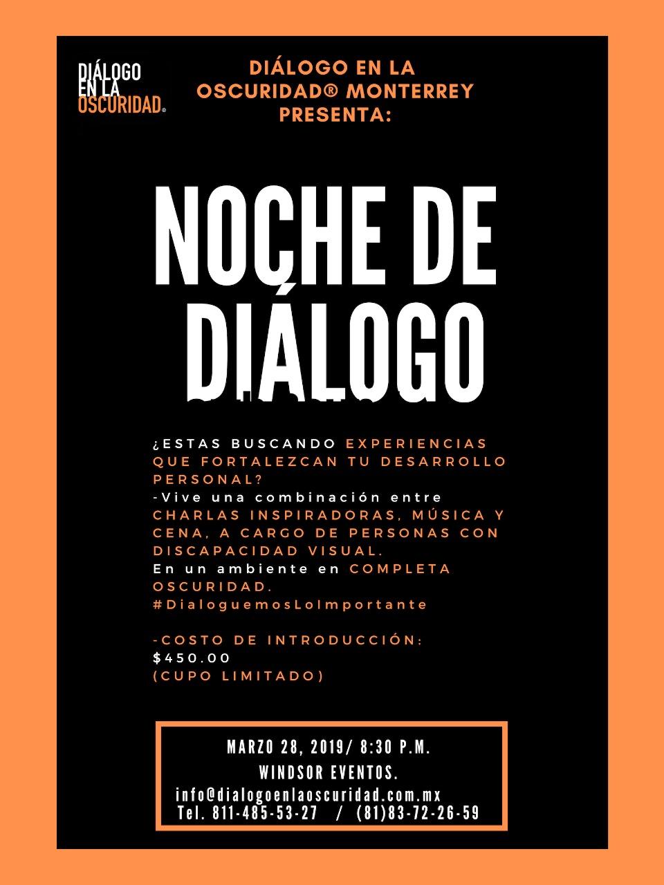 Noches de Diálogo: conferencias inspiradoras en la oscuridad – marzo 28